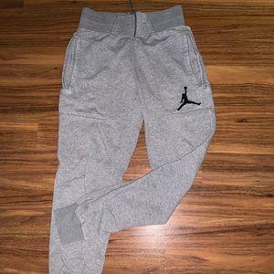 Jordan Light Grey Tapered Sweatpants